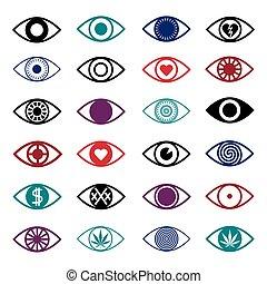 Set of Eye Icons