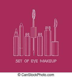 set of eye makeup