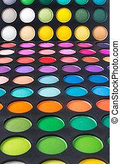 set of eye shadows
