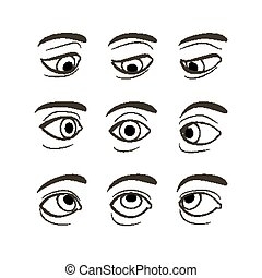 Set of Eyes Positions