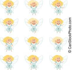 Set of fairy girls