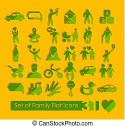Set of family icons