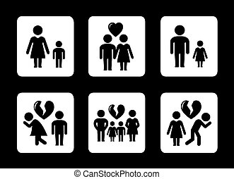 family relationships concept icons