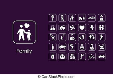 Set of family simple icons - It is a set of family simple...