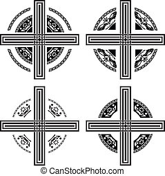 set of fantasy crosses