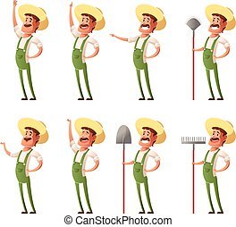 Set of farmer icons