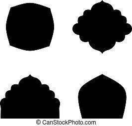 Set of farmes silhouette