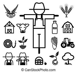 Set of farming icons.
