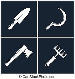 Set of Farming Tools - Set of Agricultural Farming Tool ,...