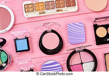 Set of fashion eyeshadows for make up.