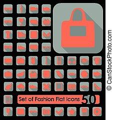Set of fashion flat icons