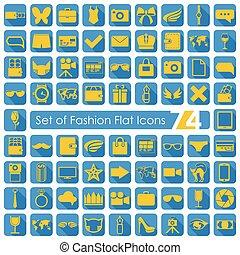 Set of fashion icons