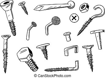set of fasteners
