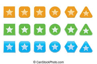 set of favorite icons