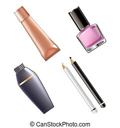 Set of female cosmetics