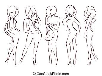 Set of Female Figures