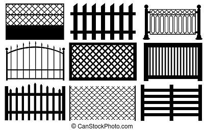 set of fences isolated