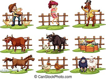 Set of fences