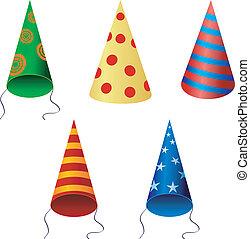 Set of festive caps