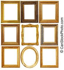 Luxury gilded frames - Set of few Luxury gilded frames. ...