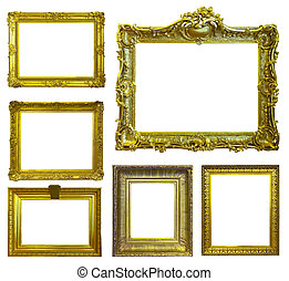 Set of few picture frames.