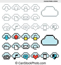 cloud pixel icons