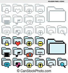 folder pixel icons