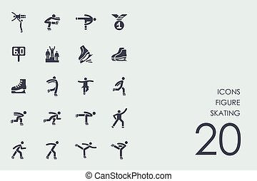 Set of figure skating icons