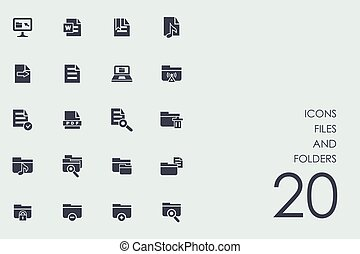 Set of files and folders icons