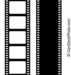 Set of film frame, vector