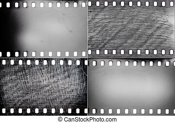 Set of film textures