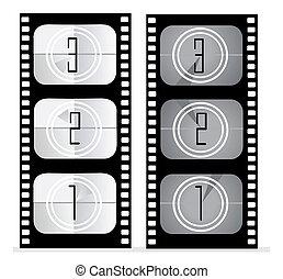 set of film vector illustration