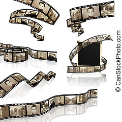 Set of filmstrips