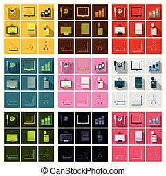 Set of finance and banking icons. Simple elements