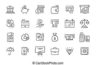 Set of finance and business icons