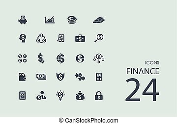 Set of finance icons