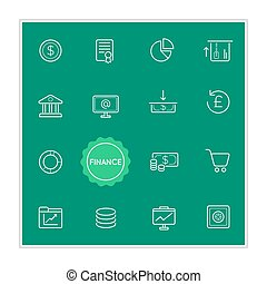 Set of Finance Money Vector Illustration Elements can be used as Logo or Icon in premium quality