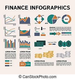 Set of Financial Infographics Elements
