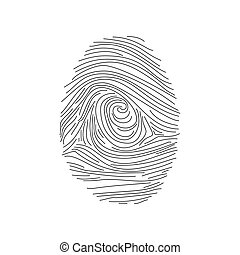 Set of fingerprints icons, id security identity. Vector illustration