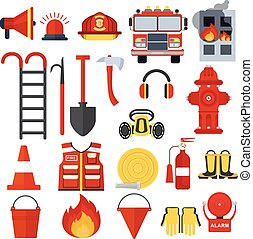 set of fire equipment