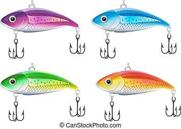 Set of fishing lures