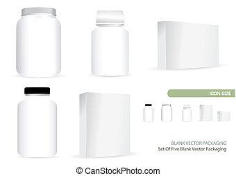 Blank Vector Packaging