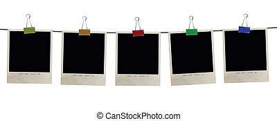photo frames - set of five retro photo frames