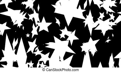 Set of five wipe transitions with red stars. Luma matte...