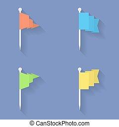 Set of Flag icons. Flat style.