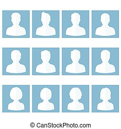 flat avatar - set of flat avatar, vector people icon, user ...