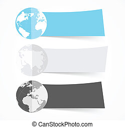 Set of flat banners