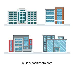 Flat Business Buildings