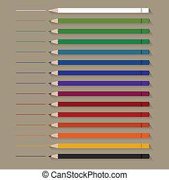 Set of flat Color Pencils