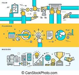 Set of flat design business concepts